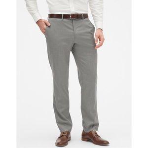 Mens' BR slim-fit gray trouser pants